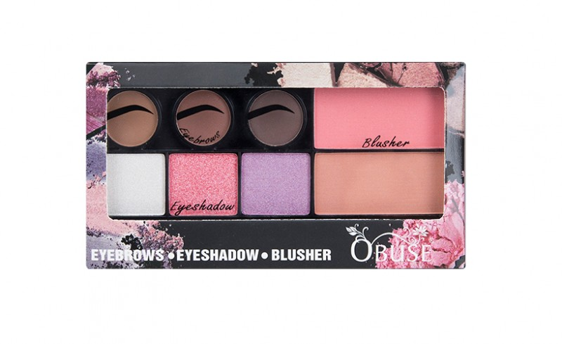 OB-1370 Obuse Eyebrow & Eyeshadow & Blush Palette