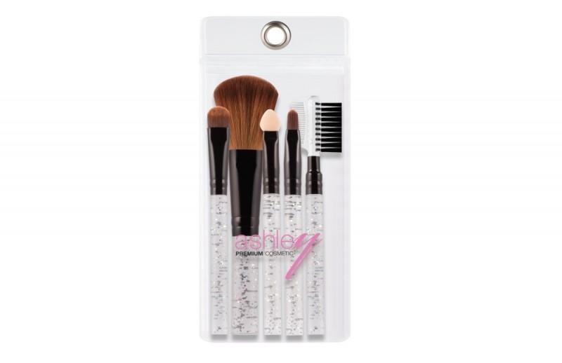 Silver Glitter Brush Set