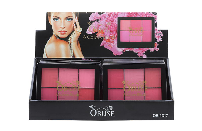 Obuse 6 Colors Blush