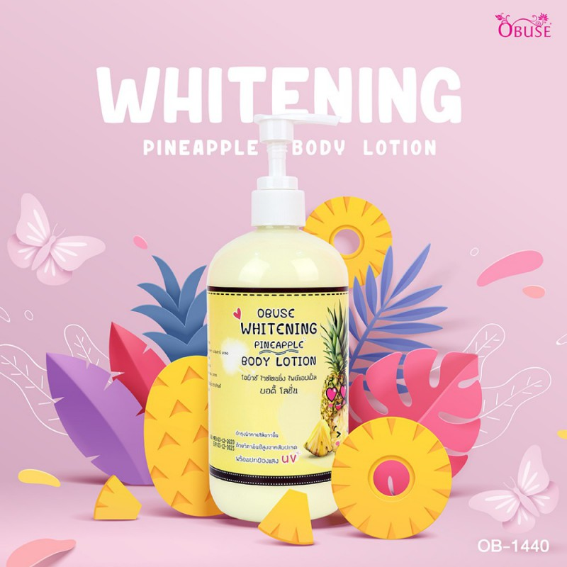 Obuse Whitening Pineapple Body Lotion