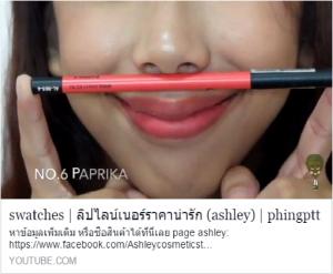 swatches | ลิปไลน์เนอร์ราคาน่ารัก (ashley) | phingptt